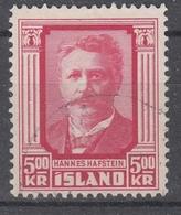 +Iceland 1954. Hafstein. Michel 295. Cancelled. - 1944-... Republique