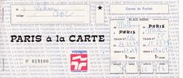 Billet Paris à La Carte A/R Mulhouse>Paris Carnet De Forfait - Titres De Transport