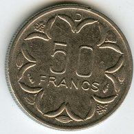 Afrique Centrale Central African States Banque Des Etats 50 Francs 1976 D Gabon KM 11 - Monedas