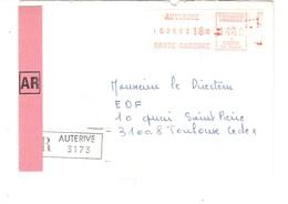 Vignette MOG Guichet HAUTE GARONNE 1982 AUTERIVE LETTRE RECOMMANDEE EINSCHREIBEN REGISTERED COVER AR - 1981-84 LS & LSA Prototypes