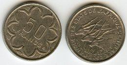 Afrique Centrale Central African States Banque Des Etats 50 Francs 2003 KM 11 - Monedas