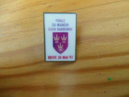 FINALE DU MANOIR AGEN-NARBONNE BRIVE 30 MAI 92 - Rugby