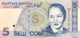 Kyrgyzstan 5 Som, P-13 (1997) - UNC - Kirguistán