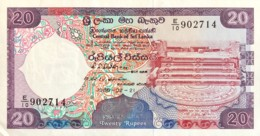 Sri Lanka 20 Rupees, P-97b (21.2.1989) - About Uncirculated Plus - Sri Lanka