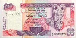 Sri Lanka 20 Rupees, P-103a (1.1.1991) - UNC - Sri Lanka