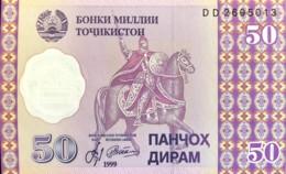 Tajikistan 50 Dirhams, P-13 (1999) - UNC - Tadschikistan