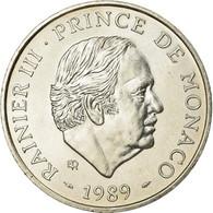Monnaie, Monaco, Rainier III, 100 Francs, 1989, SUP, Argent, KM:164 - 1960-2001 Nouveaux Francs