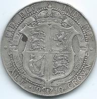 United Kingdom / Great Britain - 1910 - ½ Crown - Edward VII - KM802 - 1902-1971 : Monete Post-Vittoriane
