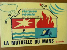 2 BUVARDS LA MUTUELLE DU MANS - Banco & Caja De Ahorros
