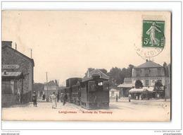 CPA 91 Longjumeau Arrivé Du Tramway Ligne De Paris Arpajon - Longjumeau