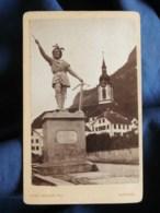 Photo CDV Vinz Müller, Altdorf - Monument De Guillaume Tell, Whilhelm Tell Monument  Circa 1870-80 L498M - Oud (voor 1900)