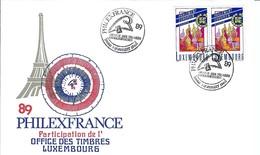 BICENTENAIRE DE LA REVOLUTION FRANCAISE 1789-1989: LSC Du Luxembourg Avec Obl. De 'Exposition ''Philexfrance '89''  TTB - Franz. Revolution