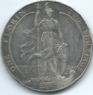 United Kingdom / Great Britain - 1910 - Florin / 2 Shillings - Edward VII - KM801 - J. 1 Florin / 2 Shillings