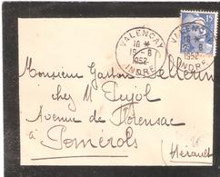 Indre :- VALENCAY Dateur Type A6 - 1921-1960: Modern Period