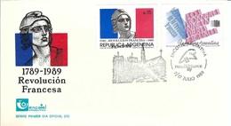 BICENTENAIRE DE LA REVOLUTION FRANCAISE 1789-1989: FDC D'Argentine, Obl. De 'Exposition ''Philexfrance '89''  TTB - French Revolution