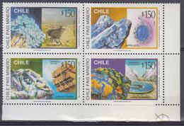 CHILI       1996      N °      1381 / 1384          COTE      5 € 00           (  Q 327 ) - Chile