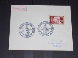 ENVELOPPE PREMIER JOUR LYON, 12/06/1955 60e ANNIVERSAIRE CINEMA N° 1033. FRERES LUMIERE. Cote 270€ - 1950-1959