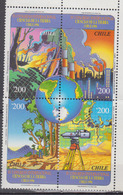 CHILI       1996      N °      1377 / 1380          COTE      7 € 00           (  Q 328 ) - Chile