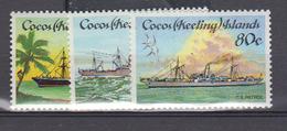 COCOS      1985      N °      128 / 130          COTE      9 € 00           (  Q 329 ) - Kokosinseln (Keeling Islands)