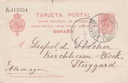 Espagne Entier Postal Pour L'Allemagne 1920 - Interi Postali