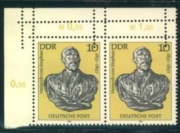 1981, 10 Pfg. Stephan Postfrisches Eckrandpaar Mit Teil-Doppelzähnung - [6] République Démocratique