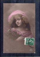 Fillette En Rose - Portraits
