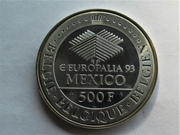 Belgie  500 Francs, 1993 Europalaia - Mexico Exposition. - 08. 500 & 5000 Francs