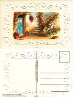 D. Lebeau - Aquarelle , Fleurs , Escalier, Vélo - Autres Illustrateurs
