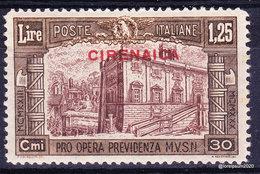 """1930- Italia Regno Colonie CIRENAICA """"pro Previdenza"""" Milizia 3  - Sas  70  MN * - Cirenaica"""