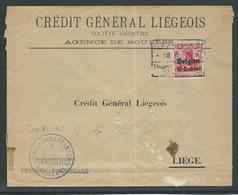 Brief Verstuurd Van Roeselare Naar Liège - Guerre 14-18