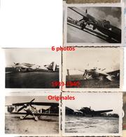 6 Photos Originales Aviation  Avion France Années 1939 - 1940 Guerre Wwii - 1939-45