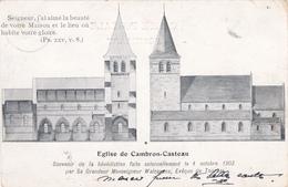 """CAMBRON-CASTEAU (Remise De 50% Déjà Faite)  écrite En 1903  """"Souvenir De La Bénédiction De L'église """"   Voir Scans - Brugelette"""