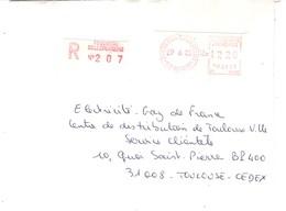 Vignette MOG Guichet LS 1982 TOULOUSE BELLEFONTAINE LETTRE RECOMMANDEE EINSCHREIBEN REGISTERED COVER - 1981-84 LS & LSA Prototypes