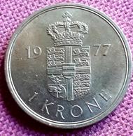 DENEMARKEN : 1 KRONE 1977 KM 862.1 UNC - Denmark