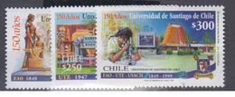CHILI      1999      N °      1491 / 1493          COTE      5 € 50           (  Q 333 ) - Chile
