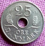 DENEMARKEN :  25 ORE 1967 KM 855.1 UNC - Denmark