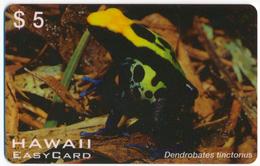 HAWAII EASY CARD 5$ PREPAID PHONECARD TELECARTE FAUNA AMPHIBIA FROG - DENDROBATES TINCTORIUS - Tarjetas Telefónicas