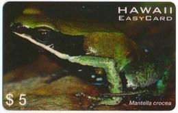 HAWAII EASY CARD 5$ PREPAID PHONECARD TELECARTE FAUNA AMPHIBIA FROG - MANTELLA CROCEA - Tarjetas Telefónicas