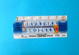 CROATIA V SCOTLAND - 2002 FIFA WORLD CUP Qual. Football Match Ticket * Soccer Fussball Calcio Croazia Kroatien Croatie - Tickets - Entradas