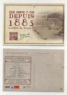 CP Pub Chroniques Retrouvées Du Midi. Que Sniffe-t-on Depuis 1883 Contre La Toux ? Montpellier Carcassonne Béziers... - Werbepostkarten