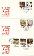 Cuba FDC 25-5-1974 Olympic Games Montreal 1976 Complete Set Of 7 On 3 Covers With Cachet - FDC