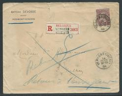 Aangetekende Brief Verstuurd Naar Jalhay - Retour En Rebut - 1884-1891 Leopold II