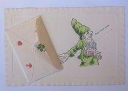 """""""Neujahr, Zwerge, Briefchen Mit Inhalt""""  1902, Prägekarte ♥  - Nouvel An"""