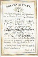 SCHAARBEEK - Baronne Douairière De WYKERSLOOTH De ROOYESTEYN - Née Baronne De ROEST D'ALKEMADE - Décédée 1842 - Images Religieuses