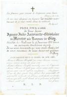 MECHELEN - Ignace Julie Antoinette De MEESTER, Née Baronne De GIEY - Overleden 1843  - (Franstalig) - Images Religieuses