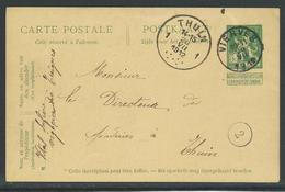 PWST  Verstuurd Uit Vierves Op 20.7.1912 - Entiers Postaux
