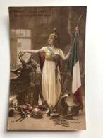 Ak Liberte Deutsche Adler Pickelhaube France Drapeau 1915 - Guerre 1914-18