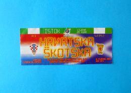 CROATIA V SCOTLAND - 2004 UEFA EURO U-21 Qual. Football Match Ticket * Soccer Fussball Calcio Croazia Kroatien Croatie - Tickets - Entradas
