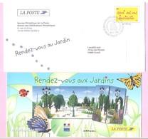 """2004. PAP De Service : INVITATION Premier Jour. """" Rendez-vous Au Jardin """". (Y&Tn°3636). Avec Carte. Circulé. - Ganzsachen"""