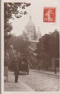 C. P. A.- PHOTO - PARIS - LE SACRE COEUR - ANIMEE - VOITURE A CHEVAUX - 69  - ETOILE - Sacré Coeur